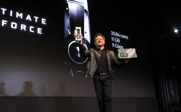 NVIDIA представила самую быструю игровую видеокарту GTX 1080 Ti