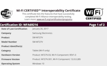 Наследник Windows-планшета Samsung Galaxy TabPro S близок к выпуску