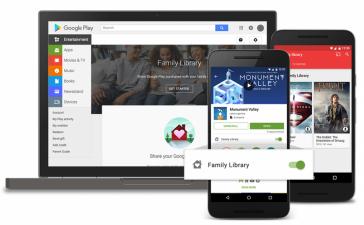 Семейная библиотека обеспечит совместный доступ к контенту Google Play