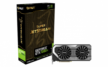 Palit представила видеокарты GeForce GTX 1080 Ti JetStream и Super JetStream