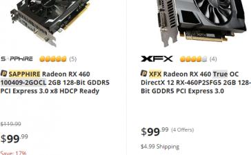 Radeon RX 470 и Radeon RX 460 становятся дешевле
