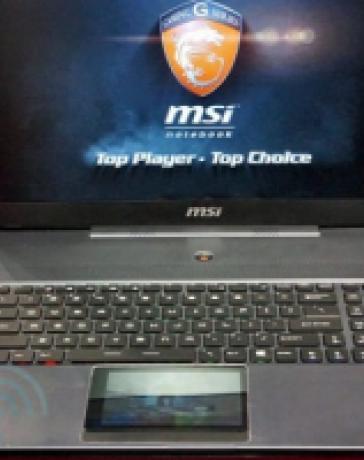 #сomputex   MSI показала игровой ноутбук с сенсорным дисплеем вместо трэкпада