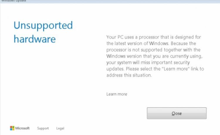 Windows 7 и 8.1 перестали получать обновления на ПК с новыми процессорами