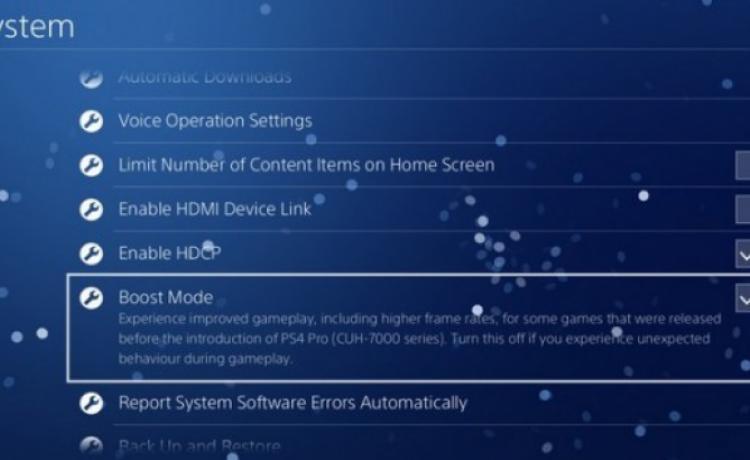 У PlayStation 4 Pro появится ускоренный режим Boost Mode