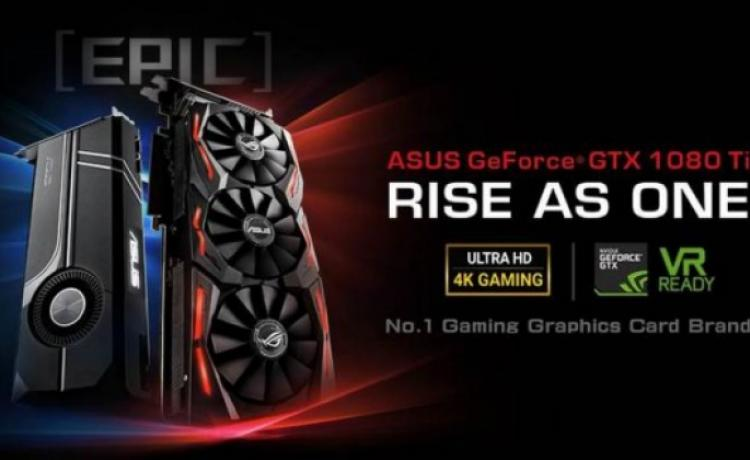 ASUS представила свои карты GeForce GTX 1080 Ti