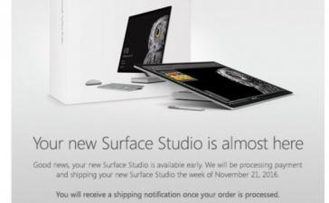 Стартуют поставки ПК-моноблока Microsoft Surface Studio