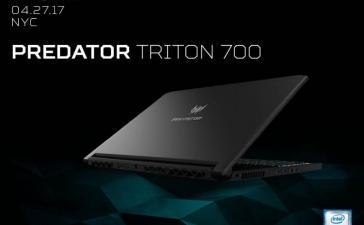 Acer представила тонкий и мощный игровой ноутбук Predator Triton 700