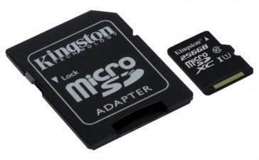 Kingston решила увеличить объем памяти на картах microSDXC Class 10 UHS-I до 256 ГБ