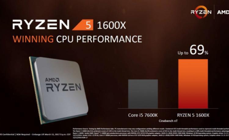 Массовые процессоры AMD Ryzen 5 выйдут в продажу 11 апреля