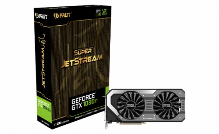 Palit представила видеокарты GeForce GTX 1080 Ti JetStream и Super JetStream